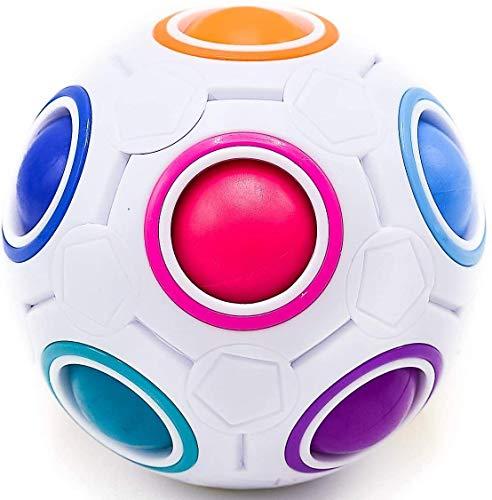 CUBIDI® Regenbogenball mit 11 Kugeln - Geschicklichkeitsspiel - Spannendes Knobelspiel für Kinder und Erwachsene Mädchen und Jungen ab 6 Jahren